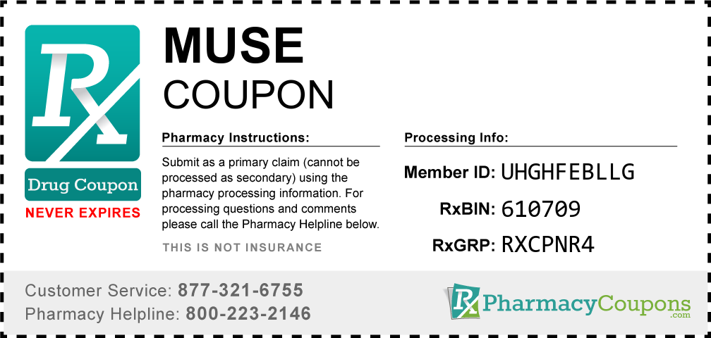 Muse Prescription Drug Coupon with Pharmacy Savings