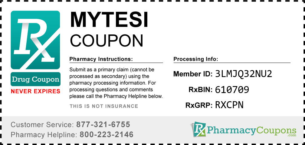 Mytesi Prescription Drug Coupon with Pharmacy Savings