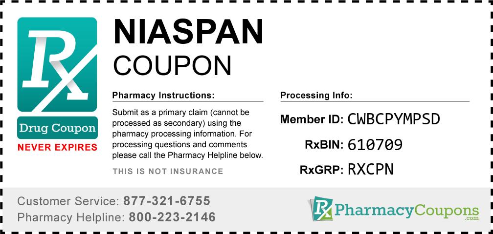 Niaspan Prescription Drug Coupon with Pharmacy Savings