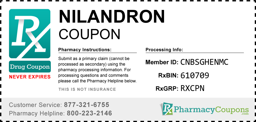 Nilandron Prescription Drug Coupon with Pharmacy Savings