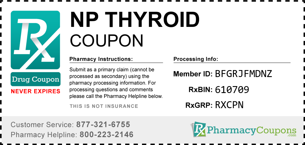 Np thyroid Prescription Drug Coupon with Pharmacy Savings