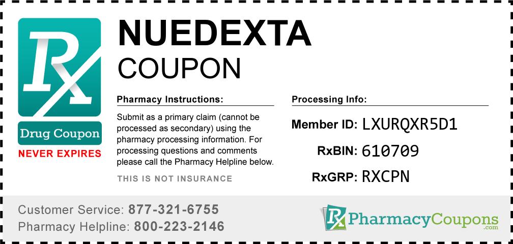 Nuedexta Prescription Drug Coupon with Pharmacy Savings
