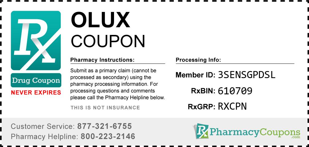 Olux Prescription Drug Coupon with Pharmacy Savings