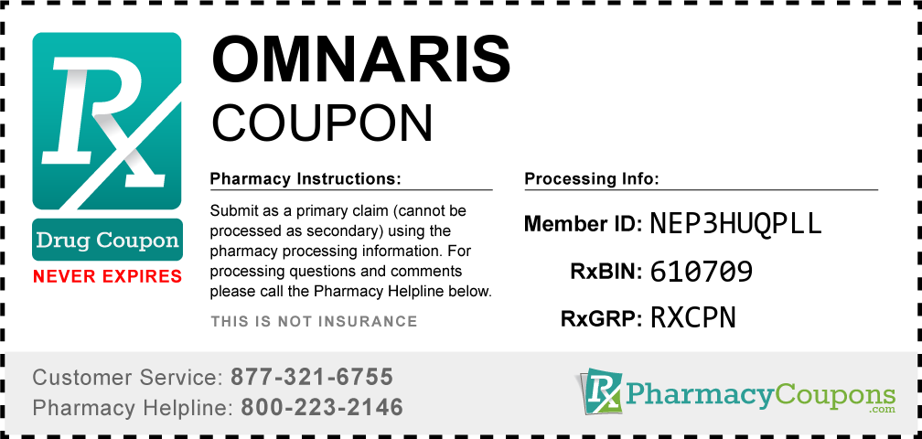 Omnaris Prescription Drug Coupon with Pharmacy Savings