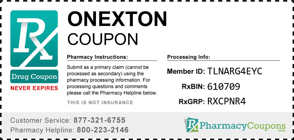 Onexton Prescription Drug Coupon with Pharmacy Savings