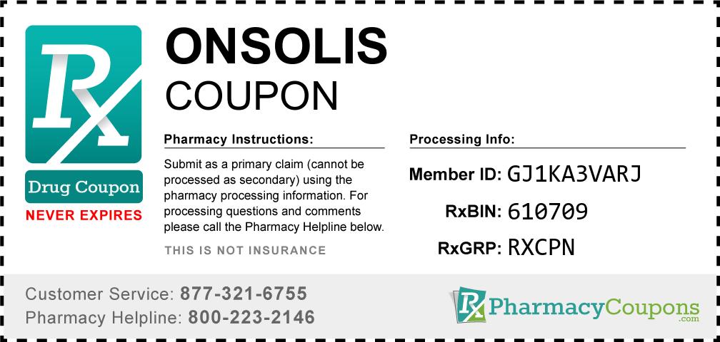 Onsolis Prescription Drug Coupon with Pharmacy Savings