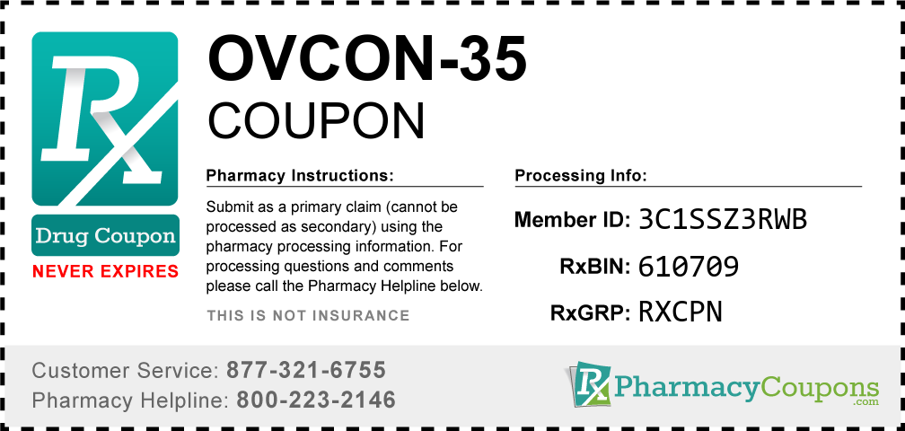Ovcon-35 Prescription Drug Coupon with Pharmacy Savings