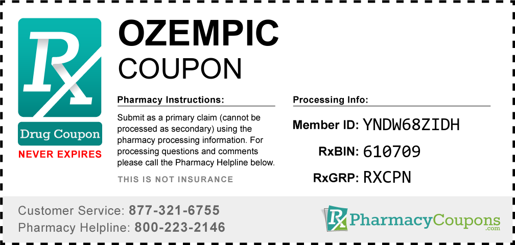 Ozempic Prescription Drug Coupon with Pharmacy Savings