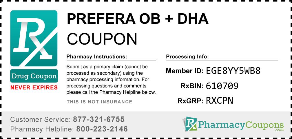 Prefera ob + dha Prescription Drug Coupon with Pharmacy Savings