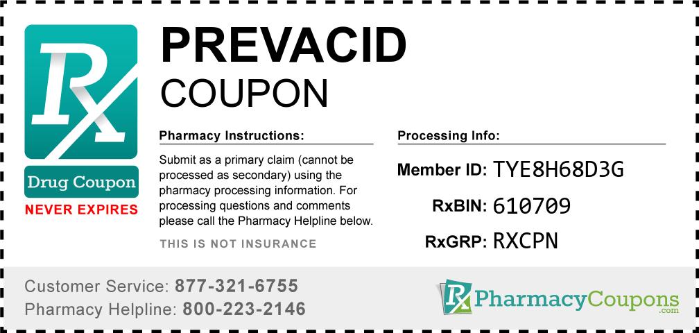 Prevacid Prescription Drug Coupon with Pharmacy Savings