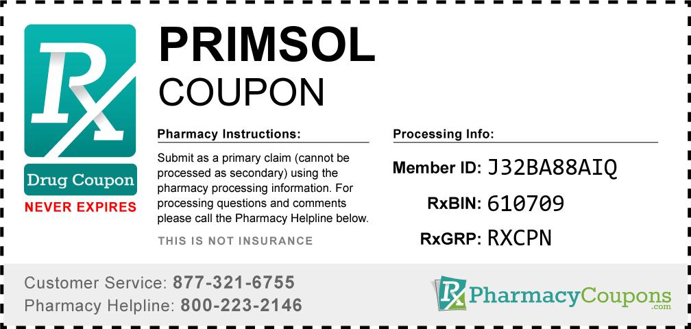 Primsol Prescription Drug Coupon with Pharmacy Savings