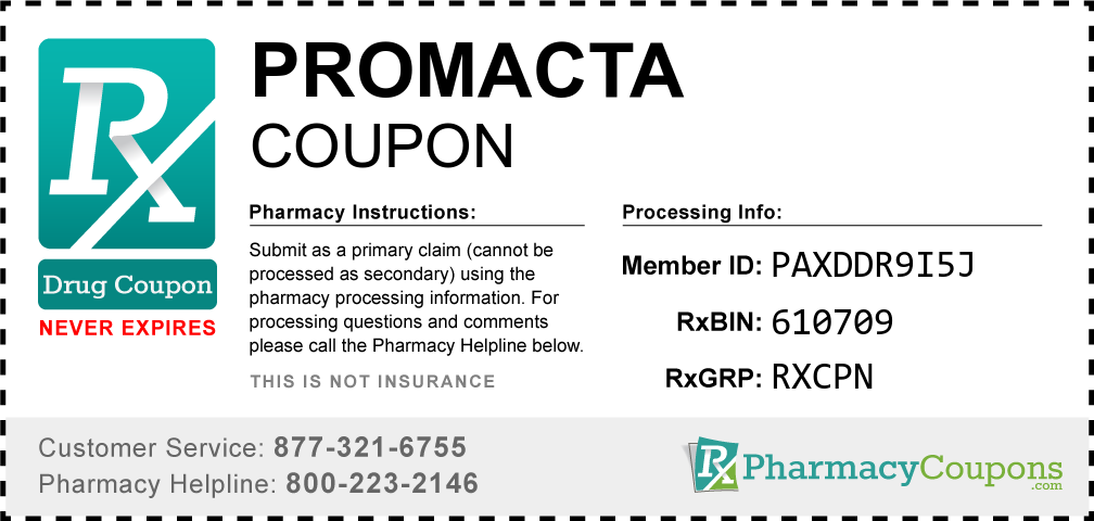 Promacta Prescription Drug Coupon with Pharmacy Savings