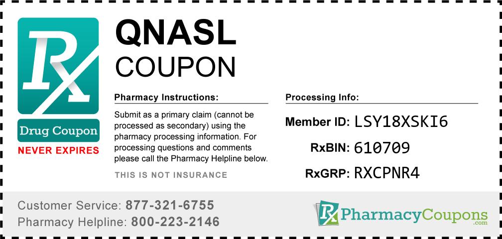 Qnasl Prescription Drug Coupon with Pharmacy Savings
