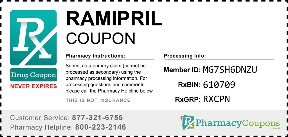 Ramipril Prescription Drug Coupon with Pharmacy Savings