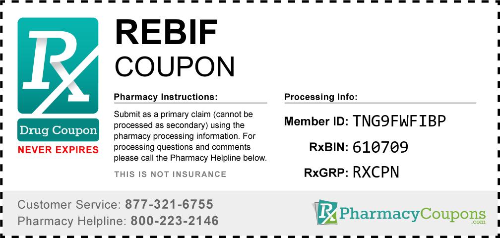 Rebif Prescription Drug Coupon with Pharmacy Savings