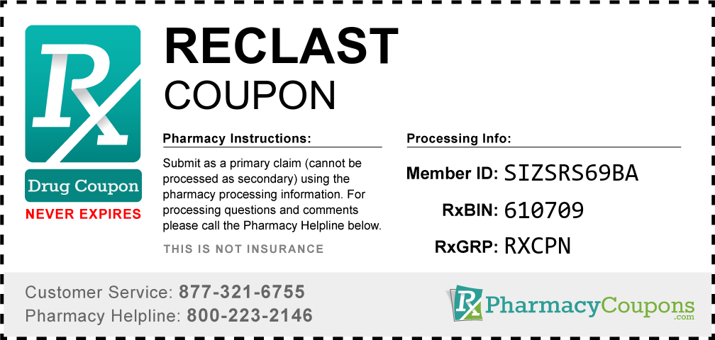 Reclast Prescription Drug Coupon with Pharmacy Savings