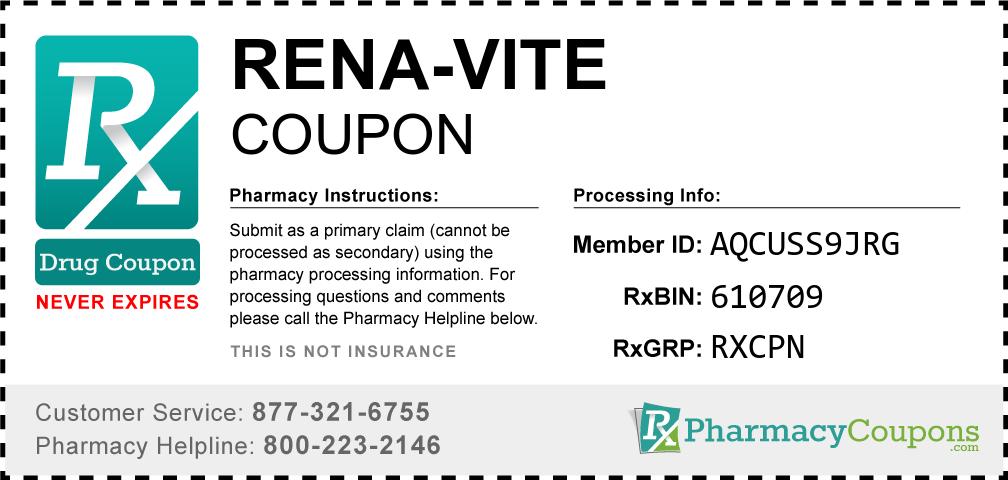 Rena-vite Prescription Drug Coupon with Pharmacy Savings