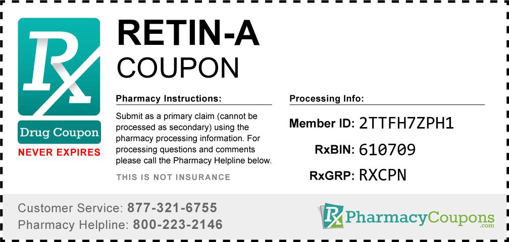 Retin-a Prescription Drug Coupon with Pharmacy Savings