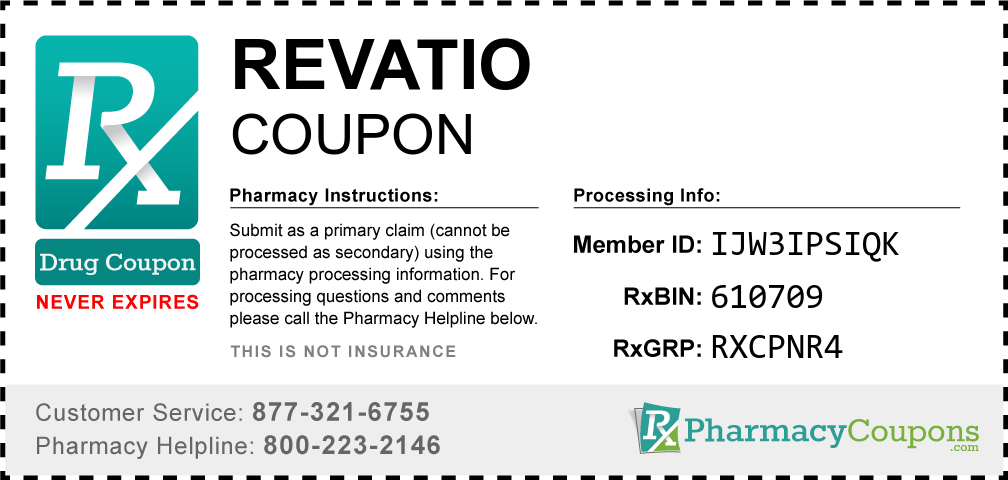 Revatio Prescription Drug Coupon with Pharmacy Savings