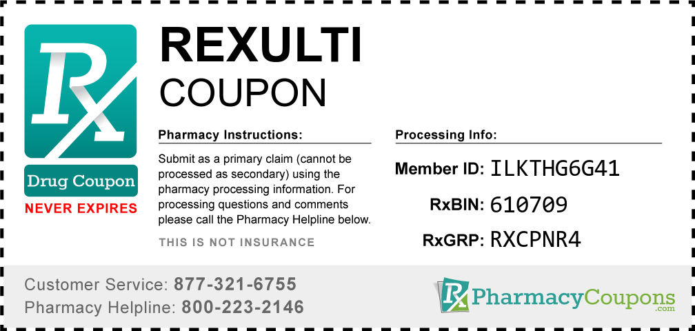 Rexulti Prescription Drug Coupon with Pharmacy Savings