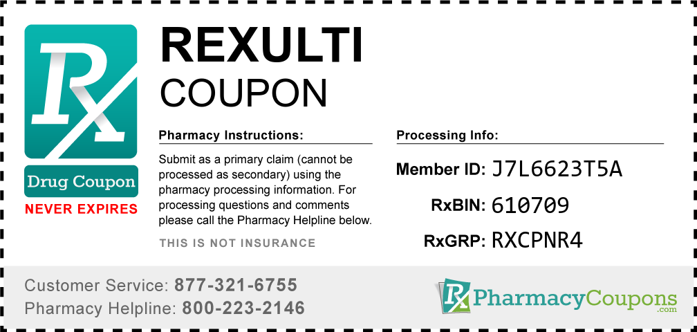 Rexulti Prescription Drug Coupon with Pharmacy Savings