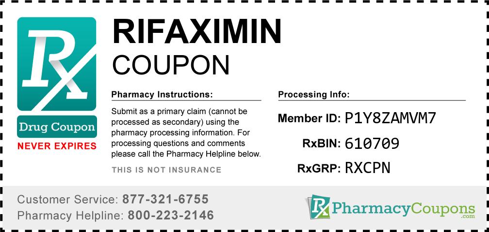 Rifaximin Prescription Drug Coupon with Pharmacy Savings