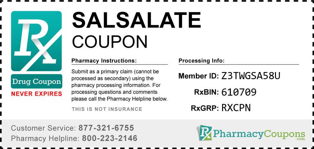 Salsalate Prescription Drug Coupon with Pharmacy Savings