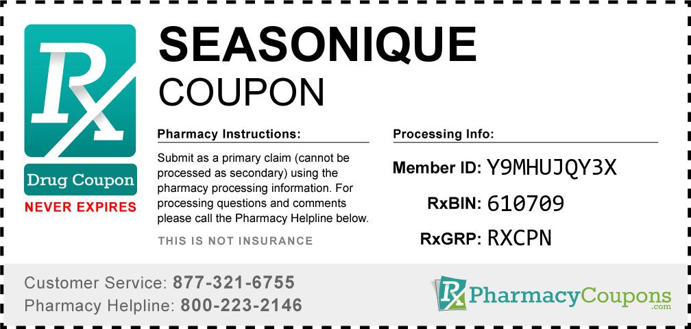 Seasonique Prescription Drug Coupon with Pharmacy Savings