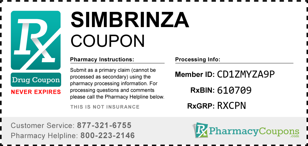 Simbrinza Prescription Drug Coupon with Pharmacy Savings