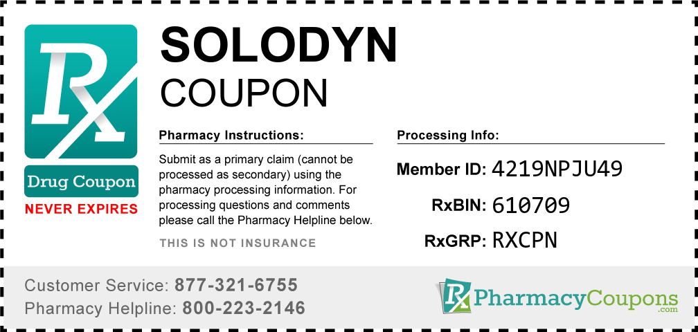 Solodyn Prescription Drug Coupon with Pharmacy Savings