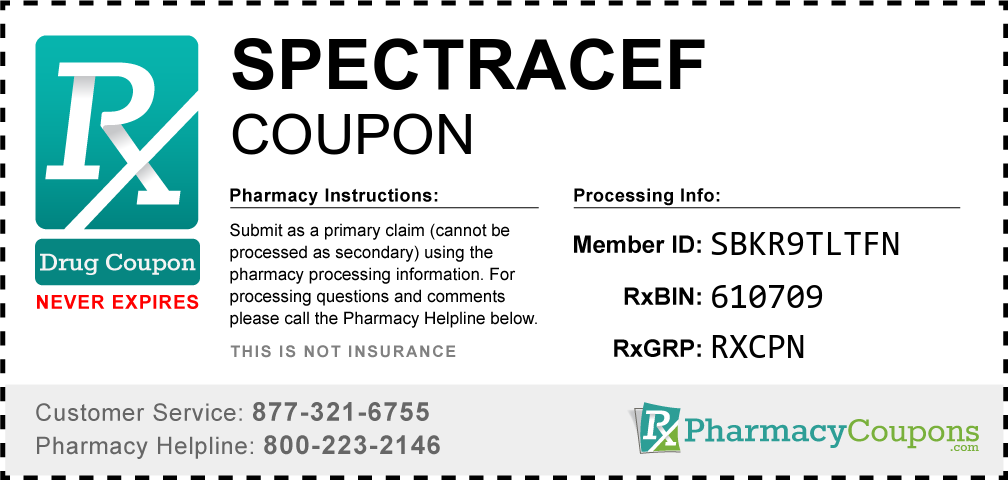 Spectracef Prescription Drug Coupon with Pharmacy Savings