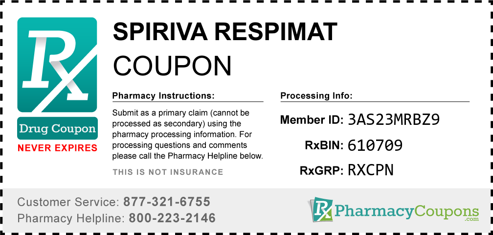Spiriva respimat Prescription Drug Coupon with Pharmacy Savings