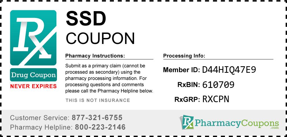 Ssd Prescription Drug Coupon with Pharmacy Savings