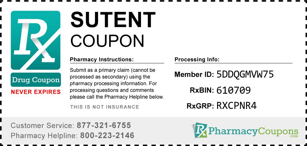 Sutent Prescription Drug Coupon with Pharmacy Savings