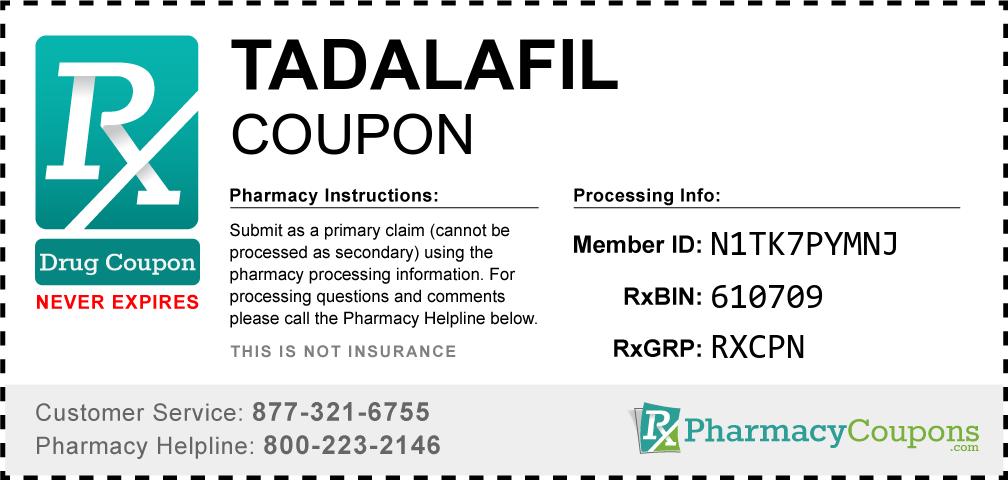 Tadalafil Prescription Drug Coupon with Pharmacy Savings