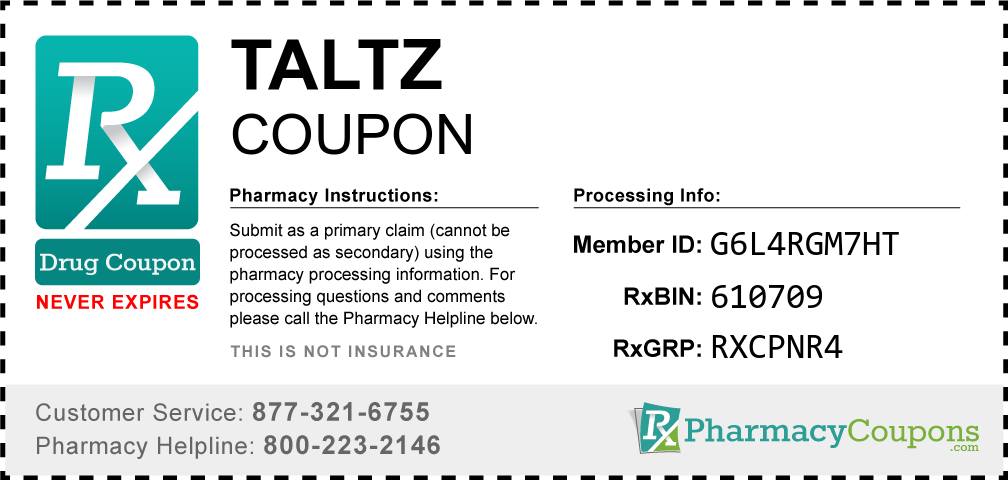 Taltz Prescription Drug Coupon with Pharmacy Savings