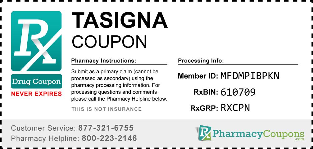 Tasigna Prescription Drug Coupon with Pharmacy Savings