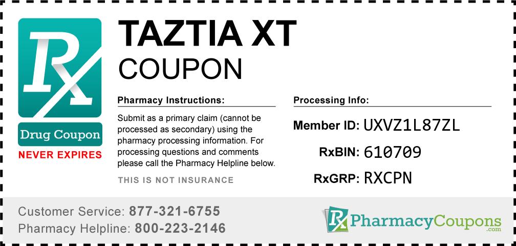 Taztia xt Prescription Drug Coupon with Pharmacy Savings