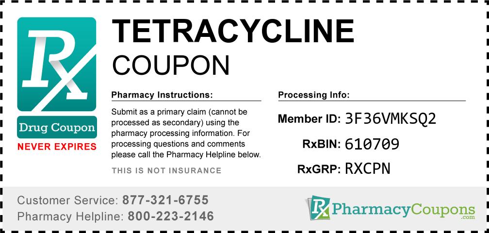 Tetracycline Prescription Drug Coupon with Pharmacy Savings