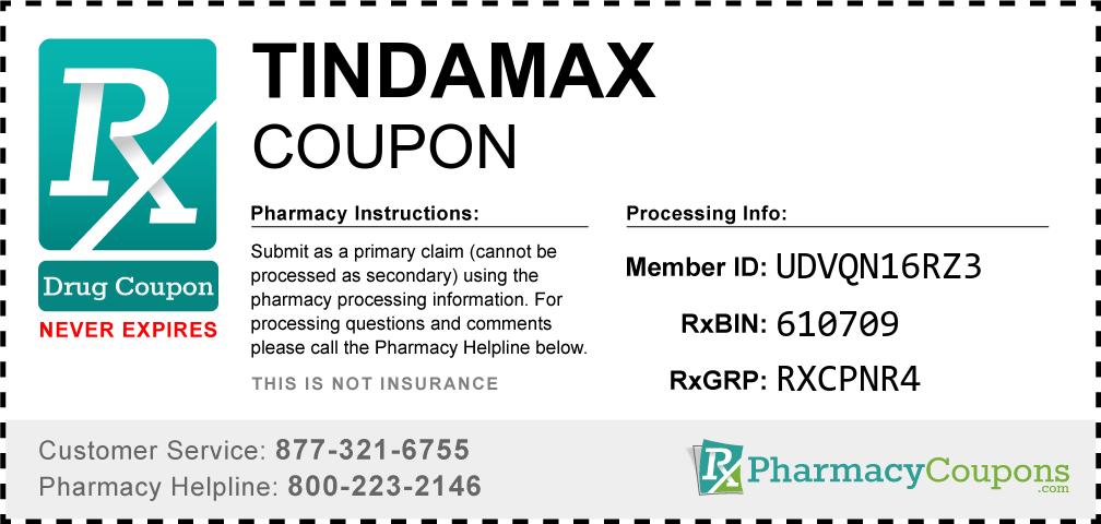 Tindamax Prescription Drug Coupon with Pharmacy Savings