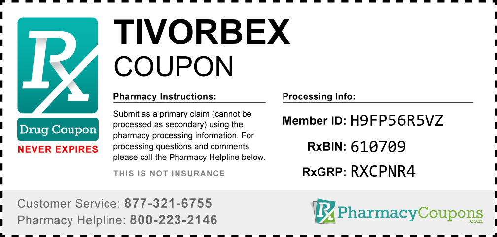 Tivorbex Prescription Drug Coupon with Pharmacy Savings