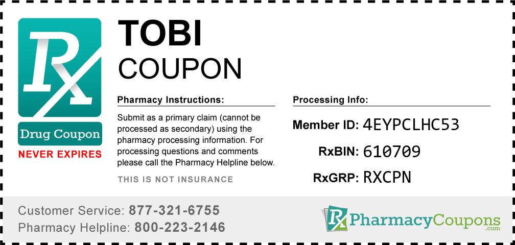 Tobi Prescription Drug Coupon with Pharmacy Savings