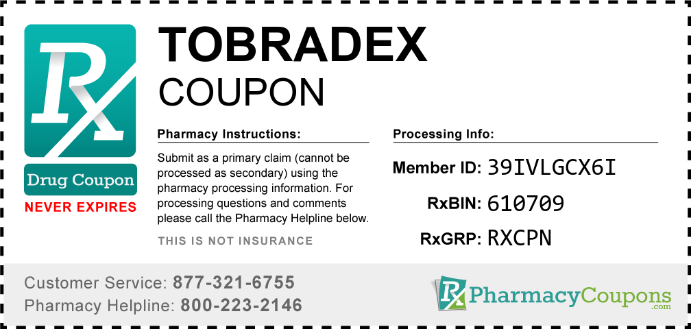Tobradex Prescription Drug Coupon with Pharmacy Savings