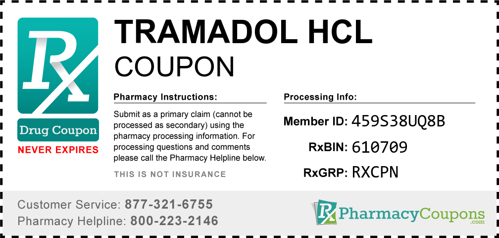Tramadol hcl Prescription Drug Coupon with Pharmacy Savings