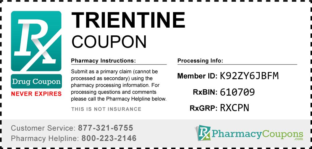 Trientine Prescription Drug Coupon with Pharmacy Savings