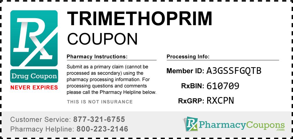 Trimethoprim Prescription Drug Coupon with Pharmacy Savings