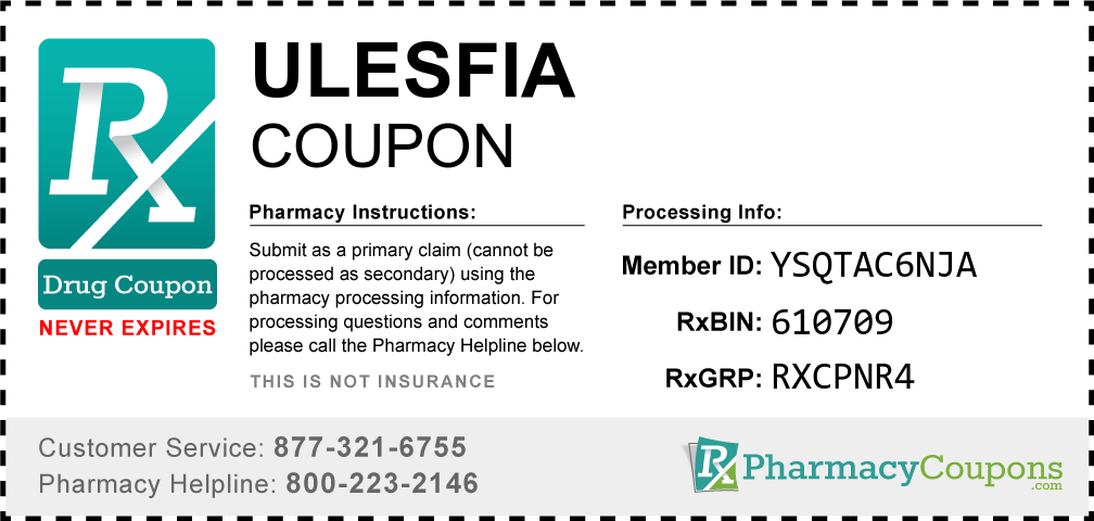 Ulesfia Prescription Drug Coupon with Pharmacy Savings