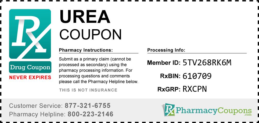 Urea Prescription Drug Coupon with Pharmacy Savings