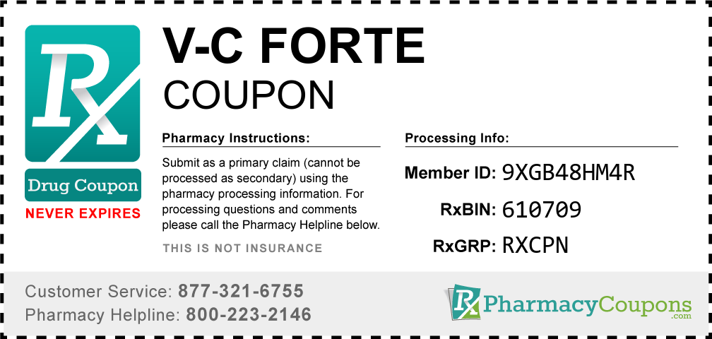 V-c forte Prescription Drug Coupon with Pharmacy Savings