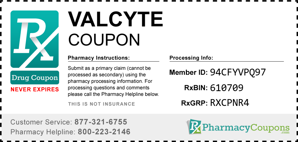Valcyte Prescription Drug Coupon with Pharmacy Savings